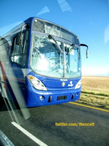 Rea Vaya busses en route to joburg